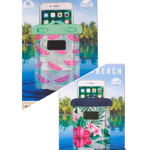 new product 3c1e0 114cd Watermelon or Floral Waterproof Cell Phone Case NWT